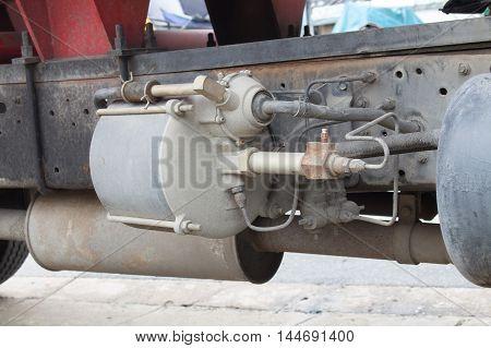 The big vacuum brack on the truck