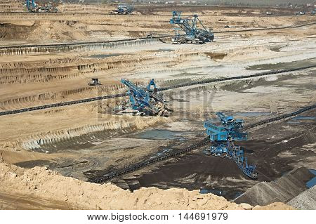 Open pit mining of coal