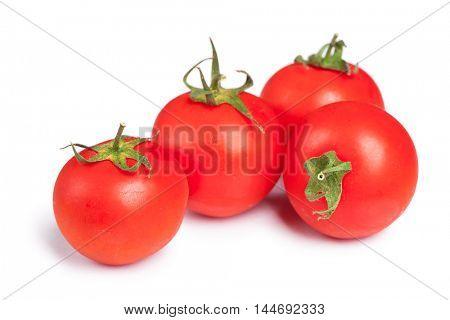 Fresh cherry tomato isolated on white background