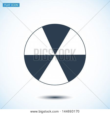 Radioactive Sign Sprayed On Metal Barrel Icon