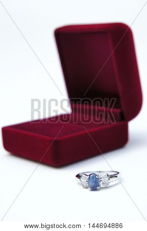 The ring , and The red box , Jewelry people wear rings.