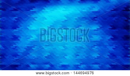 Blue mosaic vector background in 4k resolution