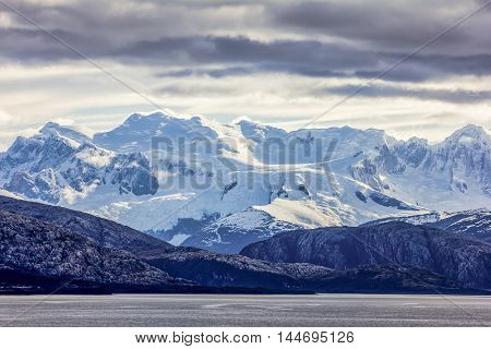 Dramatic, tall mountains on Cape Horn in South America