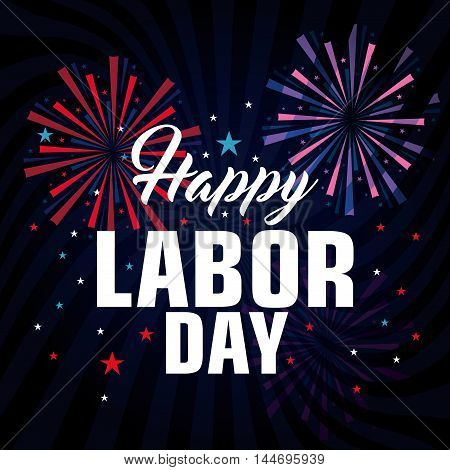 happy labor day poster icon vector illustration design