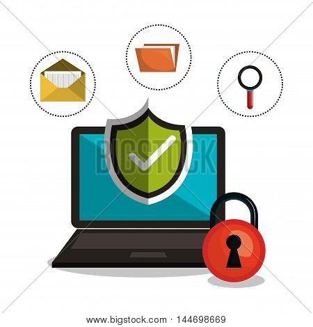 internet security information icon vector illustration design
