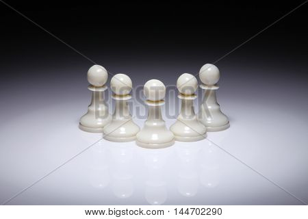 chess piece on the white background with spot light
