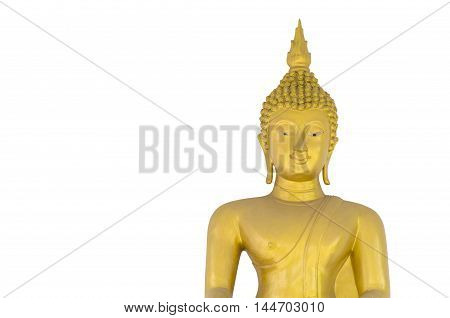 Buddha statue on a white background with clipping paths