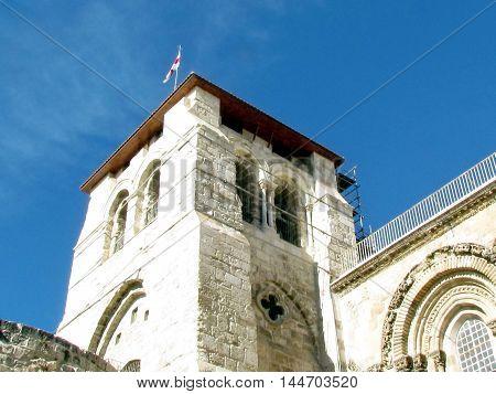 Jerusalem Israel - December 3 2012: Church of the Holy Sepulcher.