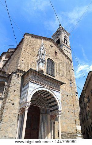 Church Basilica Santa Maria Maggiore Rear In Bergamo, Citta Alta, Italy