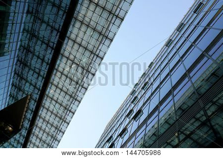 Glass facades in the center of Berlin