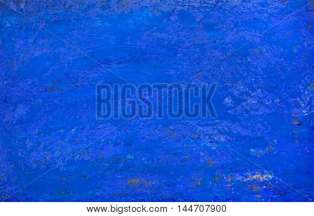 Art blue wall abstract background texture .