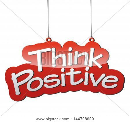 This is red vector background think positive