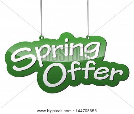 This is green vector background spring offer