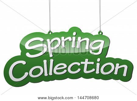 This is green vector background spring collection
