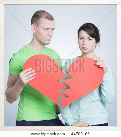 Couple With A Broken Heart