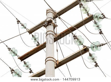 the big Electrical tower on white background