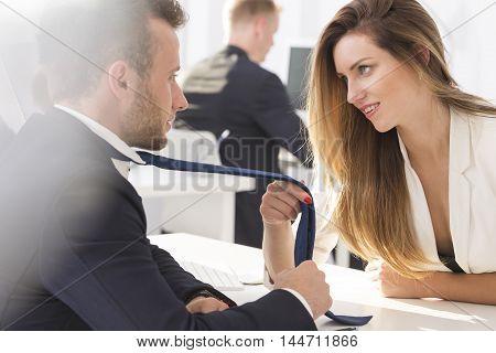 Sensual Flirt At Work