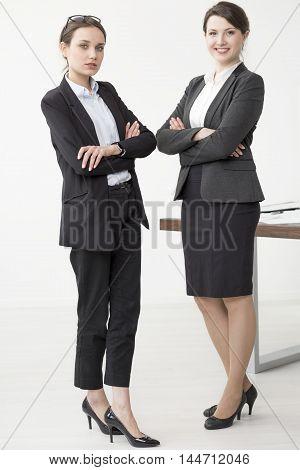 Management Staff In Black High Heels