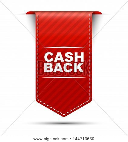 This is red vector banner design cash back