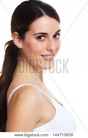 Beautiful smiling woman portrait.