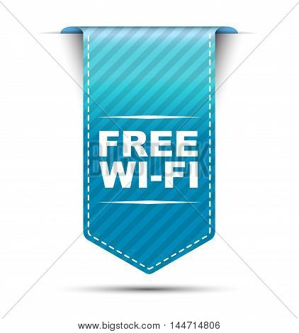 This is blue vector banner design free wi-fi