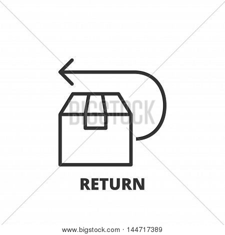 Line Icon. Return
