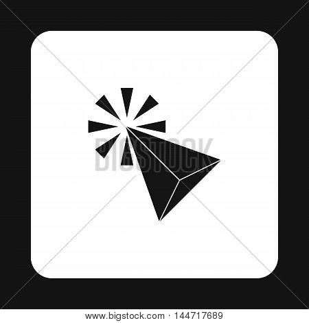 Cursor icon in simple style isolated on white background. Computer and internet symbol