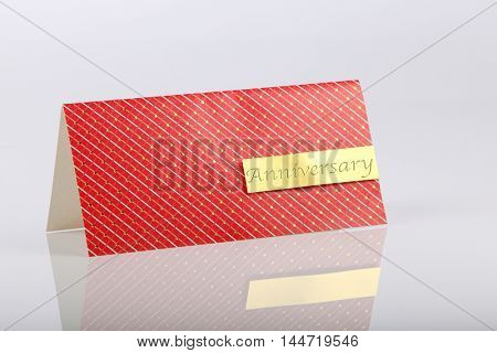 Anniversary greeting card on the white background