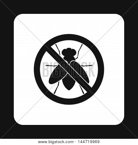 Prohibition sign glies icon in simple style isolated on white background. Warning symbol