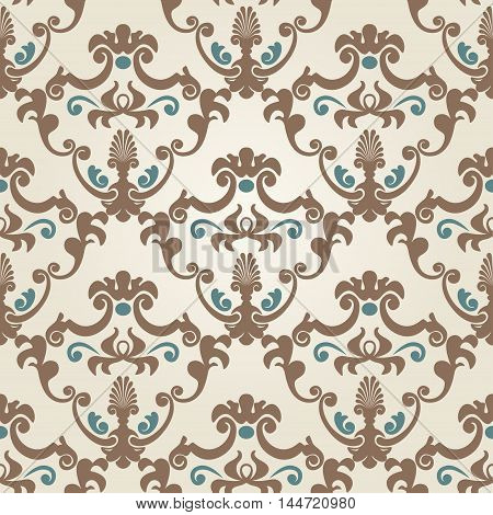 Seamless classic design wallpaper. Vector pattern EPS8