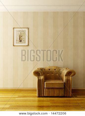 classic sofa 3D computer rendering