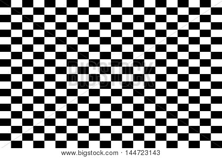 Black and white chess board - vector illustration.. Seamless pattern of black and white squares.