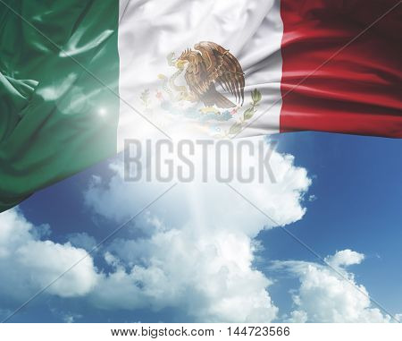 Mexico flag on a beautiful day