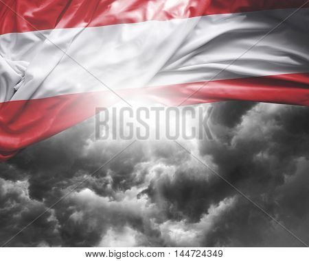 Austria flag on a bad day