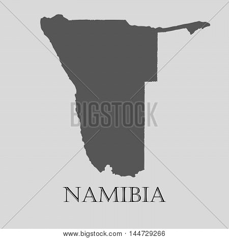 Gray Namibia map on light grey background. Gray Namibia map - vector illustration.