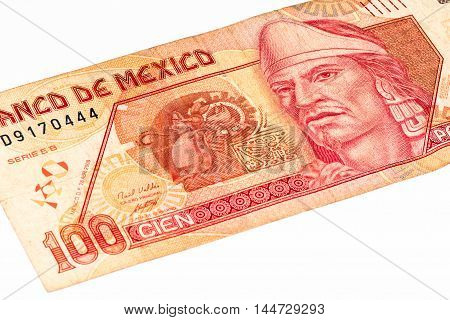 100 Mexican pesos bank note made in 2007