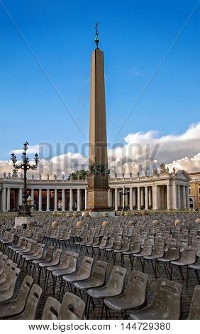 The Vatican area in summer in Rome, Italy