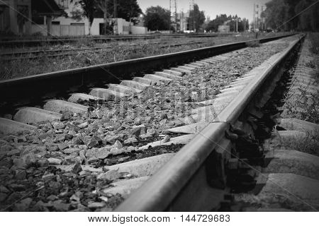 The old and the longest railway in the urban landscape