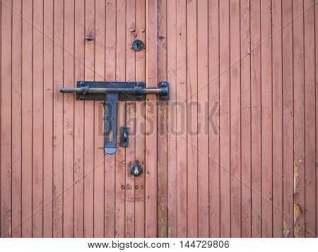 A Multiple Locked Old Wooden Door, Background