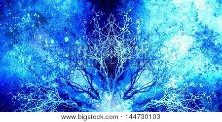 Beautiful ornamental mandala with tree pattern, symbol of life