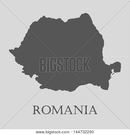 Gray Romania map on light grey background. Gray Romania map - vector illustration.