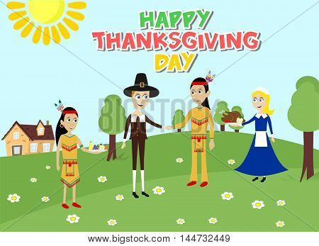 illustration dedicated to the autumn holiday - Thanksgiving Day.