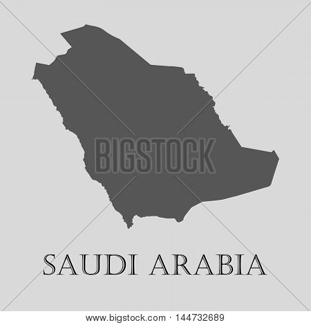 Gray Saudi Arabia map on light grey background. Gray Saudi Arabia map - vector illustration.