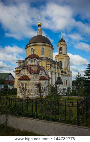 Beautiful View Of Church Of Trasfiguration Of Our Lord  In Radonezh Posad