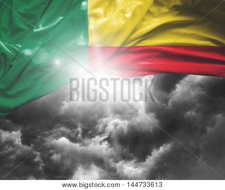 Benin flag on a bad day