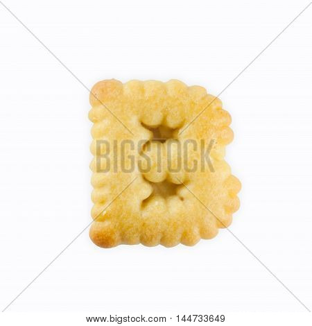 B-shape Cracker in the form of the alphabet