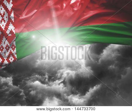 Belarus flag on a bad day