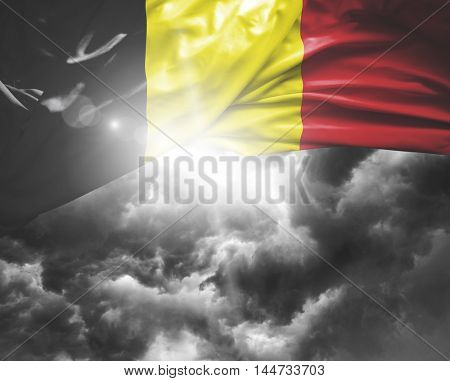 Belgium flag on a bad day