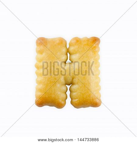 H-shape Cracker in the form of the alphabet