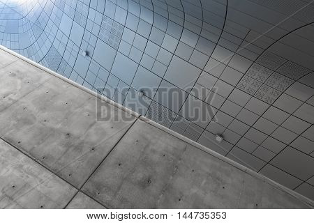 Seoul, South Korea - August 14, 2016: Fragment Of Dongdaemun Design Plaza Located In Seoul, Designed